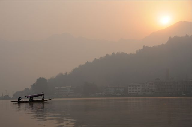 Shikara on the Dal Lake
