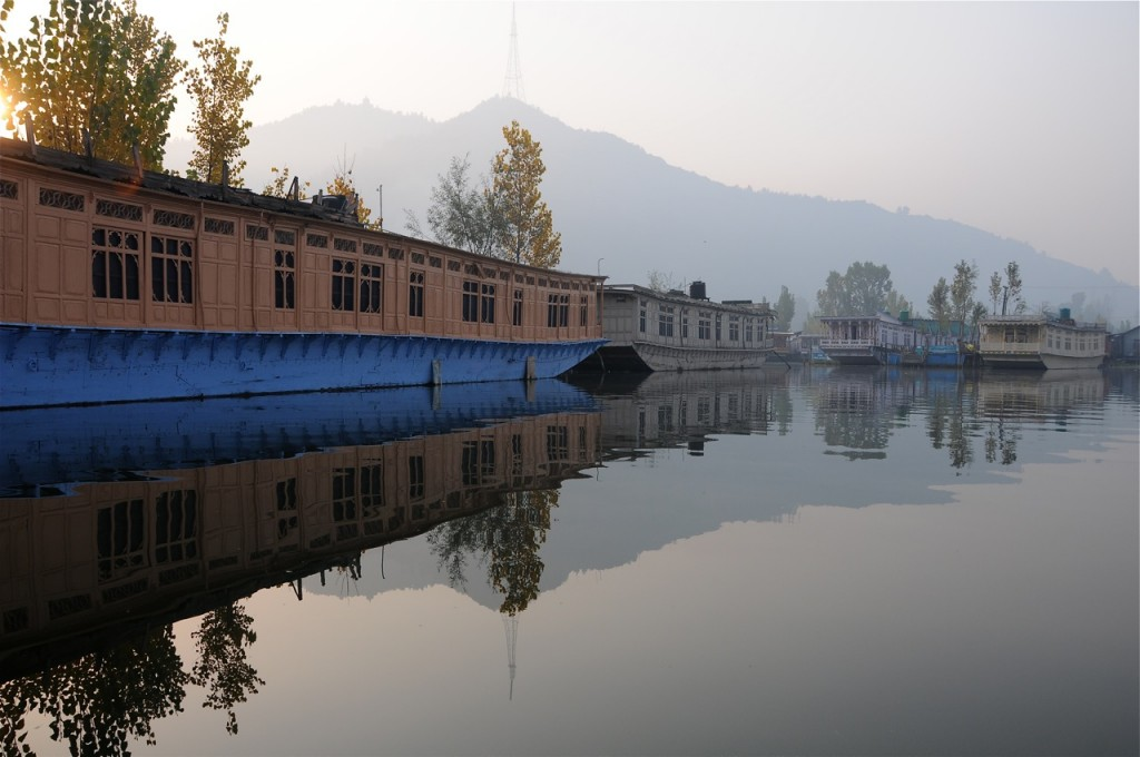 The Dal Lake is in the heart of Srinagar