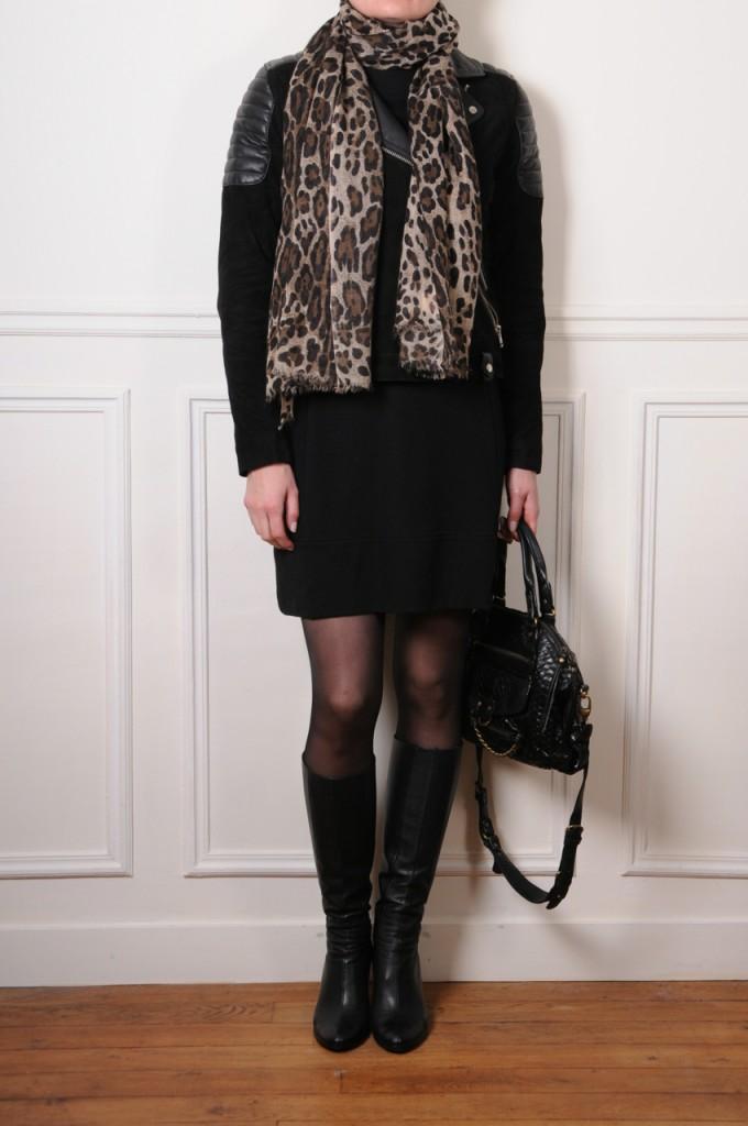 leopard print cashmere stole