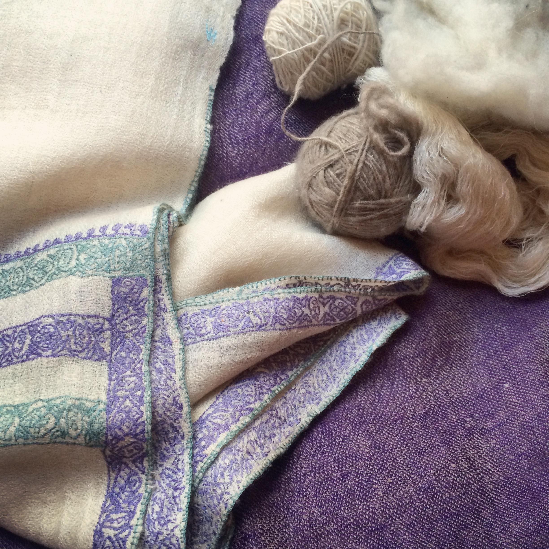 pashmina cachemire violet