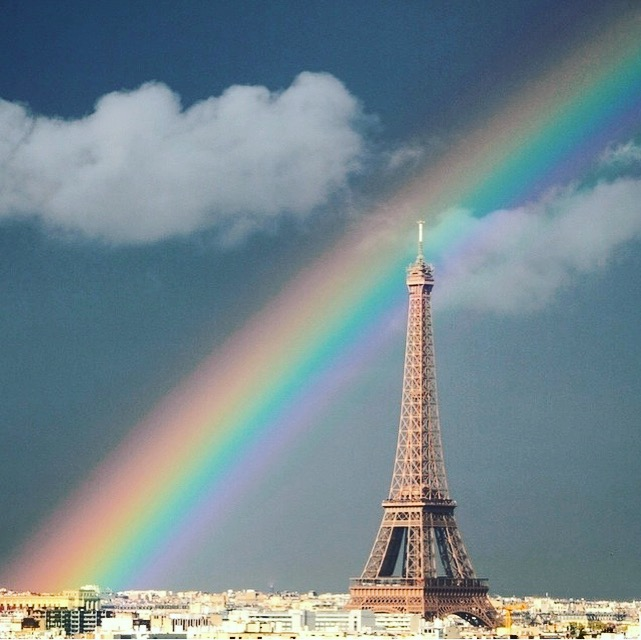 rainbow in paris