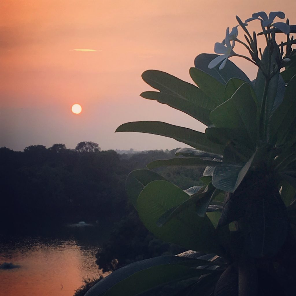 sunset delhi