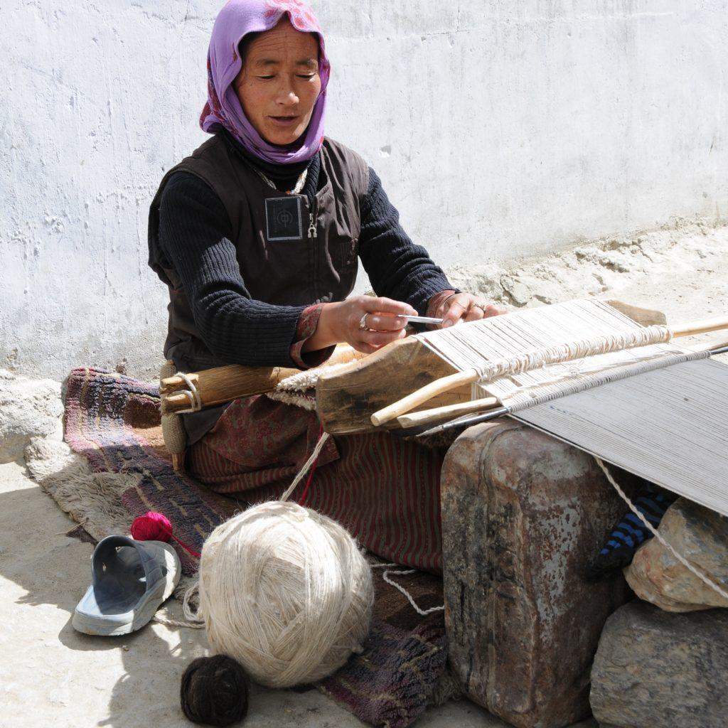 chang pa nomade tissant la laine d'agneau