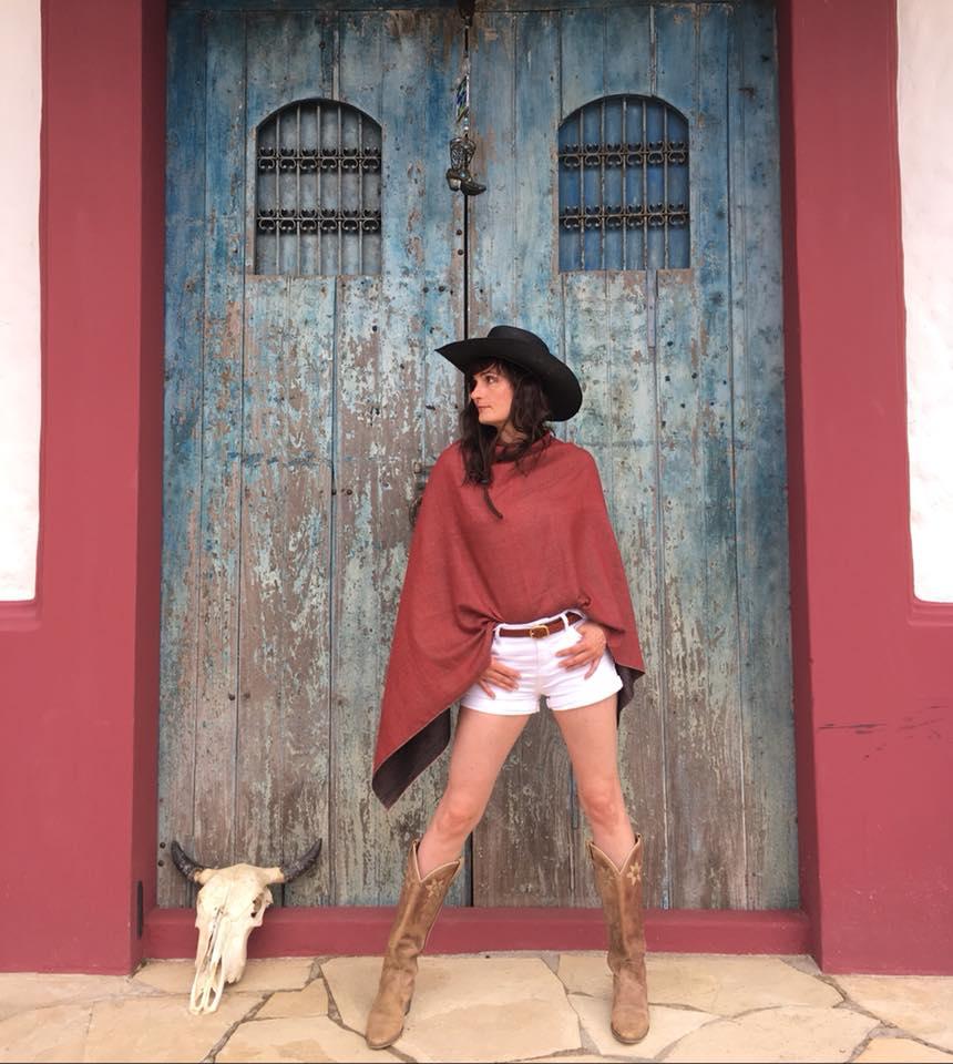pashmina poncho et cowboy style