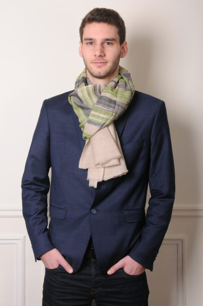 perfect style with this ikat men pashmina