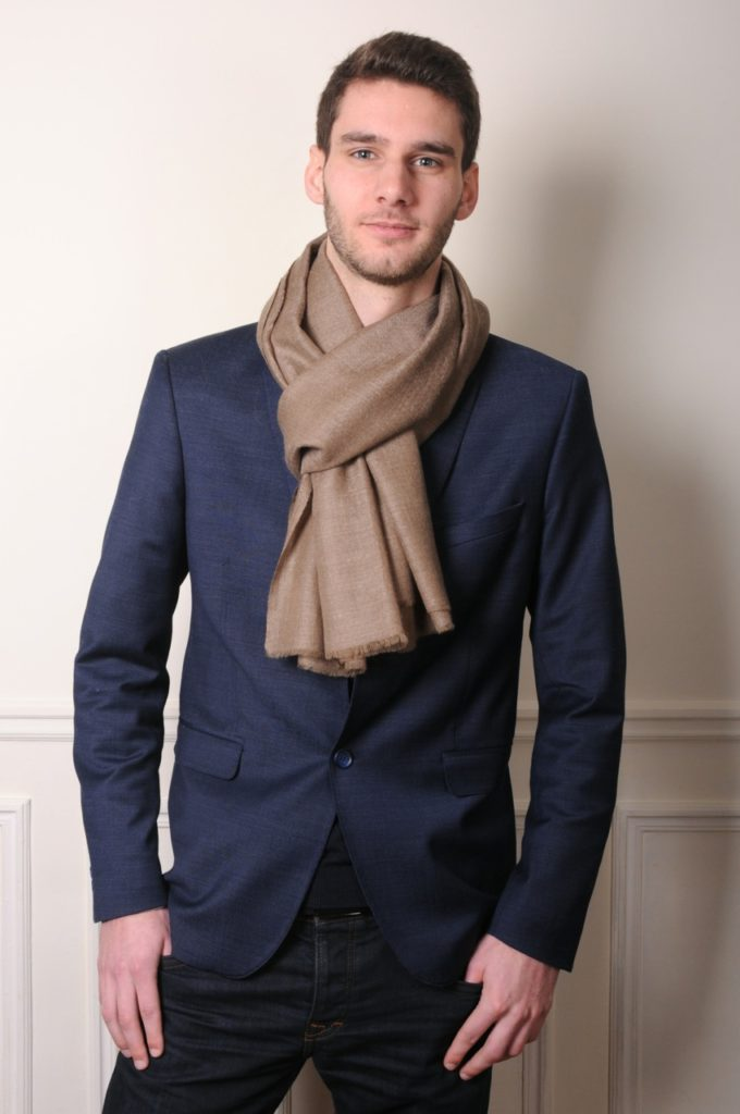 beige pashmina is a basic men pashmina