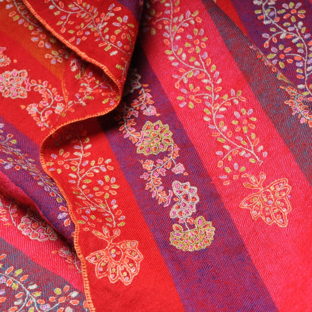 new embroidered pashminas with boho style