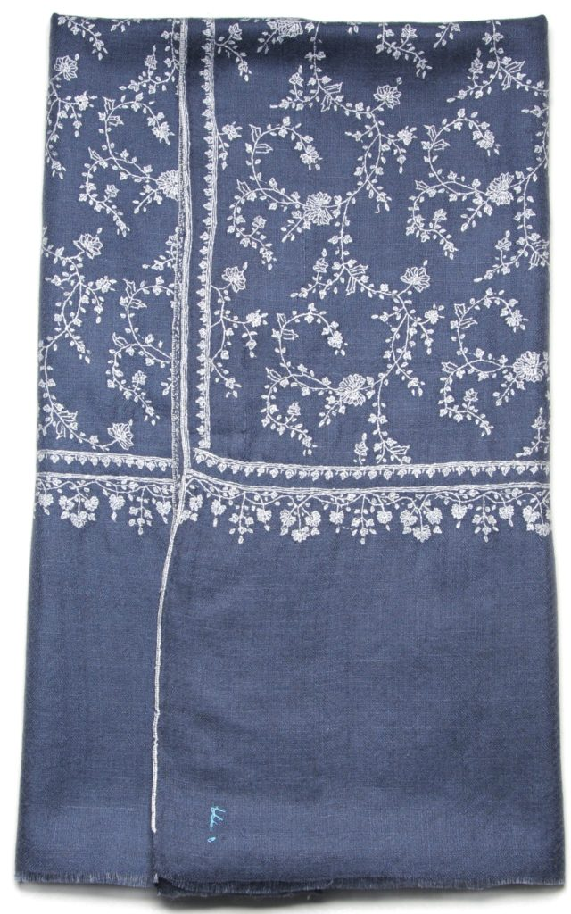 embroidered cashmere pashmina stole