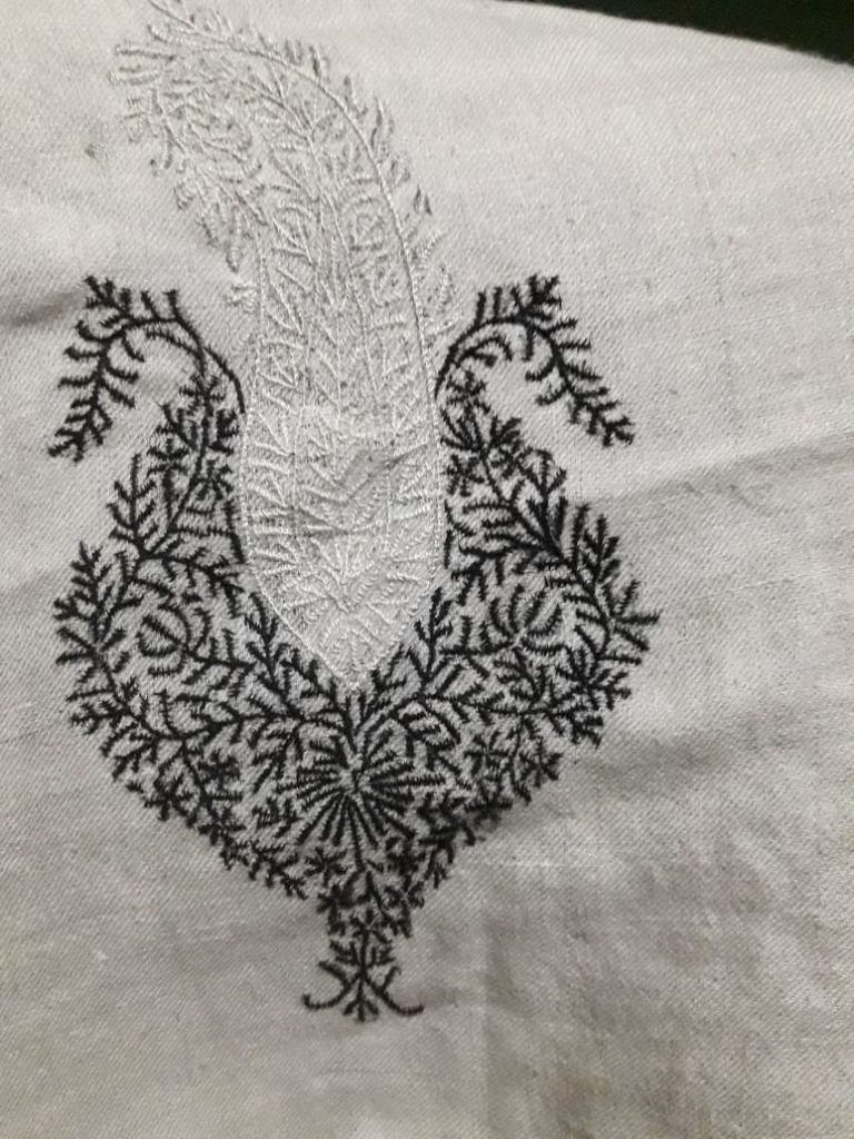 embroidery test on lucknow stitch
