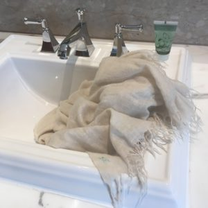Wash your cashmere pashmina by hand