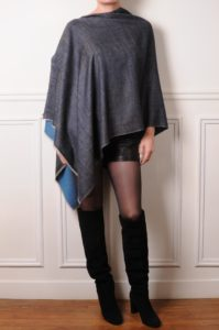 the pashmina poncho is dual tone reversible