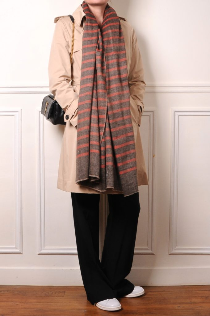 trench and cashmere pashmina
