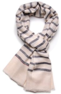 pashmina cachemire navy stripes