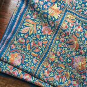 motifs traditionnels pashmina brodé