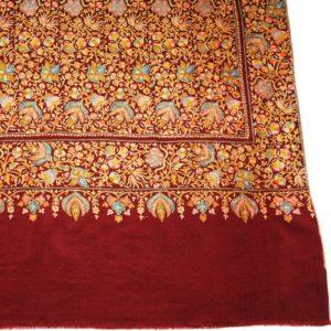 pashmina jamawar hand embroidered